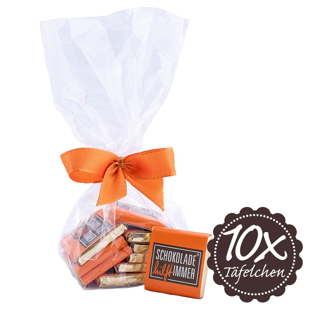 10 Schokoladen-Täfelchen