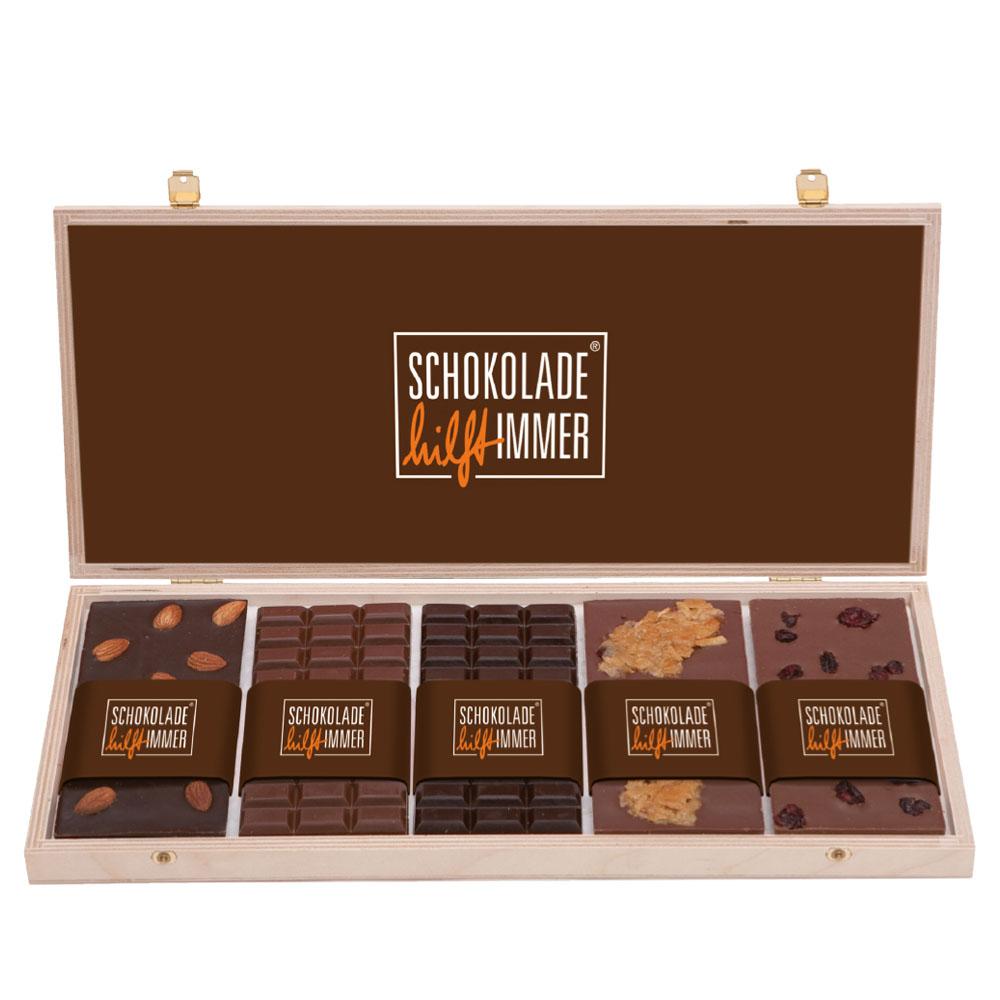 Tafeln_Holzschatulle_Schokolade_Logo
