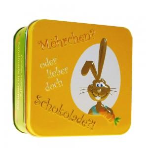 """Österliche Präsentdose """"Möhrchen oder Schokolade"""""""