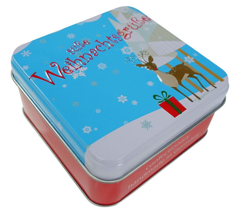 Süße Weihnachtsgrüße.Präsentdose Süße Weihnachtsgrüße 50g