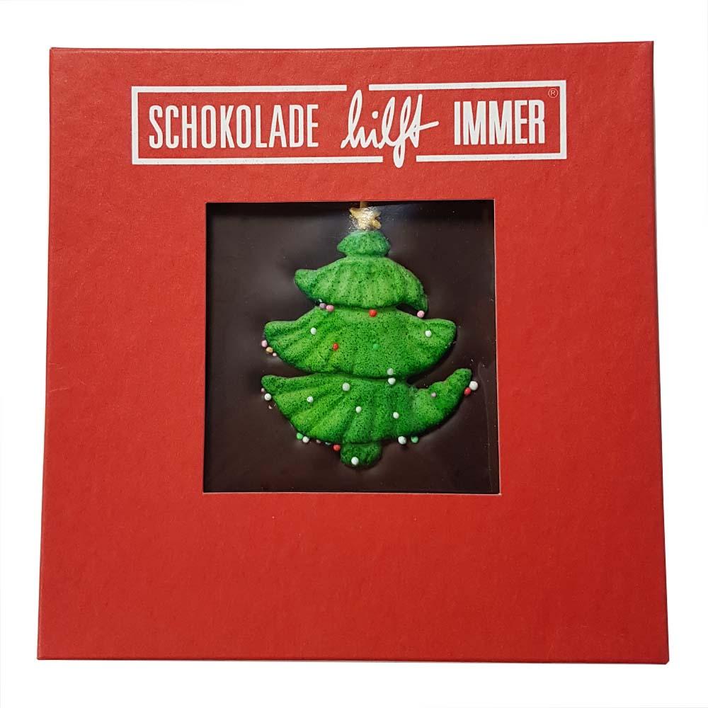 weihnachts schokoladentafel mit weihnachtsbaum. Black Bedroom Furniture Sets. Home Design Ideas