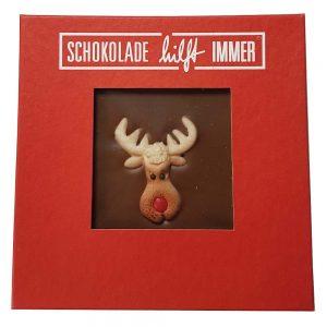 """""""Weihnachts"""" Schokoladentafel mit Elch"""