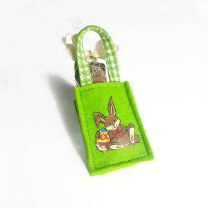 Fliztasche Osterhase grün
